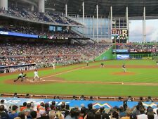 Marlins vs New York Mets 8/10/18 (Miami) Row 1 - Behind Mets Dugout