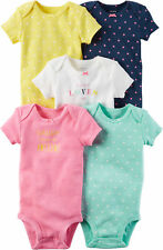 Carters Baby Girls 5-pk. Baby Pink Bodysuits