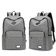 Student's Canvas Backpack For Leisure Or Traveling 15.6 In Business Computer Bag