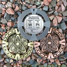 """WPt - Chemistry of Geocaching Geomedal Geocoin (2.5"""", Cutouts, Antique Finish)"""