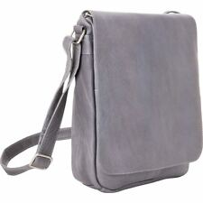 LeDonne Leather Over-shoulder Vertical Flap Bag