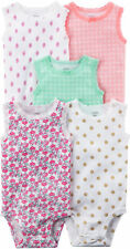 Carters Baby Girls 5-pk. Sleeveless Floral Bodysuits
