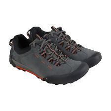 Bostonian Outlay Peak Mens Gray Suede Hiking Lace Up Boots Shoes
