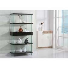 Best Quality Furniture Tempered Glass Lacquer Bookcase with Drawers