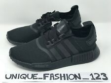 ADIDAS NMD TRIPLE BLACK MESH R1 OUT UK 6 7 8 9 10 11 S31508 2016 CORE OG PITCH