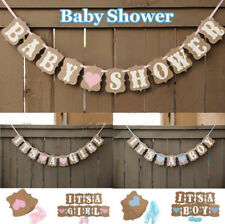 Baby Shower Cute Party 1 Pcs Banner Bunting Girl Baby Boy Decorations Borthday