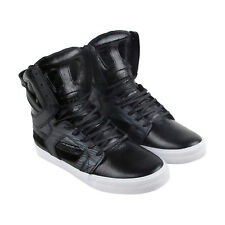 Supra Skytop Ii Mens Black Leather High Top Lace Up Trainers Shoes