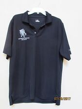 men size LG Under Armour Wounded Warrior Project Black S/S Heatgear Polo Shirt