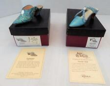 2 Turquoise JUST THE RIGHT SHOES MINT in Boxes - Enchanted and Society Slide