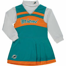 Miami Dolphins Girls Toddler Jumper Cheer Dress - Aqua