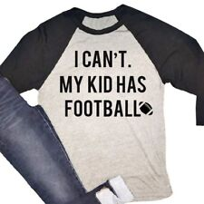 Fashion Women I CAN'T MY KID HAS FOOTBALL Letters Print Top Tee T-Shirt