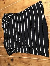 Women's Dorothy Perkins Navy And White Striped T-shirt Casual Top Size 14 EU 42