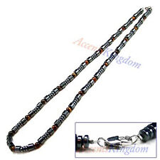 Accents Kingdom Men's Magnetic Hematite Tiger's Eye Sports Necklace