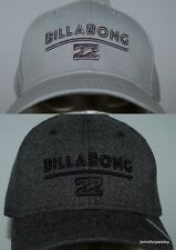BILLABONG CAP HAT NEW MENS  Unity STRETCH FLEX Black Heather , Grey Heather Logo