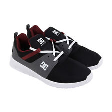 DC Hearthrow Mens Black Mesh Sneakers Lace Up Skate Shoes