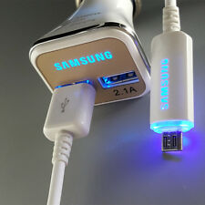 ORIGINAL LED USB Cable Fast Car Charger For Samsung Galaxy S6 S7 edge + C5 Note5