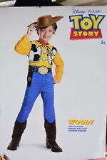 NWT Disney Pixar Toy Story Woody Halloween Costume Dress Up XS Small + Hat