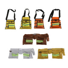 Reflective Pocket Utility Bag Nail Tool Apron Carpenter Belt Rig Tool Holder