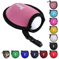 Premium Neoprene Golf Ball Pouch Holder Bag Carry Case Clip Golfer Tool Gift