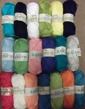 5 x 100g Wendy Supreme Luxury Cotton D/K Wool/Yarn for Knitting/Crochet