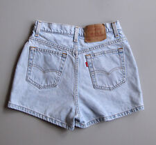 Vintage Levis 512 Shorts Light Wash High Waisted Mom Jeans Denim 26""