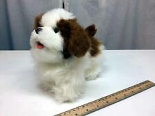 "Furreal Friends TAN WHITE DOG 9"" PUPPY Electronic Walks Barks - WORKS!"