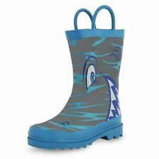 Puddle Play Shark in the Sea - Boy's Rain Boots (Toddler/Little Kid)