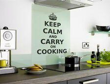 Keep calm and carry on cooking wall sticker quote | Funny Kitchen Wall Sticker