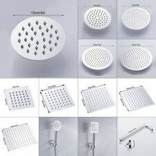 Round Square Stainless Steel Rain Shower Head Rainfall Home Bathroom Top Sprayer