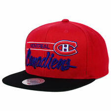 Montreal Canadiens Mitchell & Ness NHL City Bar Snapback Flat Bill Brim Cap Hat