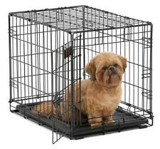 MidWest Homes for Pets Dog Crate Single Double Door Folding Metal Dog Crates
