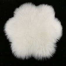 45cm Dia Artificial Sheepskin Area Rug Living Dining Carpet Kids Play Mat Decor