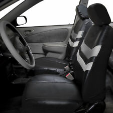 Front Bucket Leatherette Car Seat Covers Front Rear Full Set Synthetic Leather