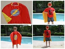 Flash Kids Birthday Party Favors, Superhero Mask, Cape can Personalize Name