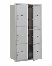 Salsbury Industries Recessed USPS Aluminum 7 Unit 4C Horizontal Parcel Locker