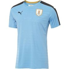 PUMA MEN'S URUGUAY HOME JERSEY BLU/BLK MEN'S SZ. M-L 749035 01
