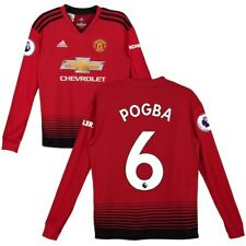 Paul Pogba Manchester United adidas Youth 2018/19 Home Replica Long Sleeve