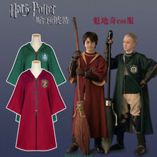 Harry Potter Quidditch Hogwarts Cape Cloak Robe Cosplay Costume Free Shipping