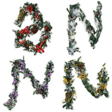 Spruce Wreath with Bowknot, Pine Cones & Flower Christmas Holiday Decoration