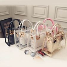 2017 New Fashion Women Clear Transparent Shoulder Bag Jelly Candy Summer Beach H