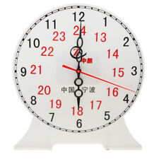 Student Teaching Time Clocks 12/24 Hour Gear Clock Preschool Learning Time Toy
