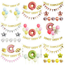 Donut Party Supplies - Donut Grow Up Banner & Balloons Birthday Decorations