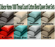 Ddecor Home 1000 Thread Count Cotton Blend Sheet Sets King  & Queen Size