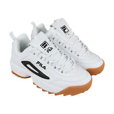 Fila Disruptor Ii Mens White Synthetic Low Top Lace Up Sneakers Shoes