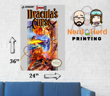 Castlevania 3 Dracula's Curse NES Box Art Wall Poster Multiple Sizes 11x17-24x36