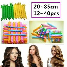 25~85cm Magic Curlers Long Hair 12~40pcs Spiral Curl Formers Leverage Rollers US