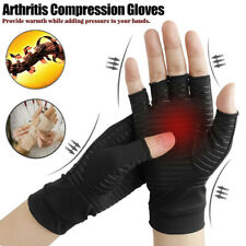 Copper Compression Arthritis Gloves Rheumatoid Hands Joints Support Sleeves FA