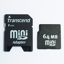 MINI SD Card 64MB 1GB 2GB Flash Memory Cards For Phone + Card Adapter Converter