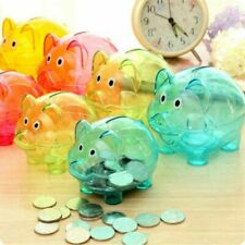 Coins Piggy Bank Transparent Plastic Money Box Kids Birthday Gift Accessories