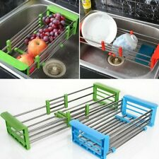 Stainless Steel Adjustable Telescopic Kitchen Over Sink Dish Drying Rack Insert